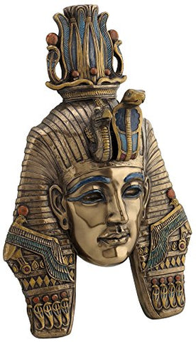 King TUT Tutankhamum Mask Egyptian Pharaoh Wall Plaque Sculpture