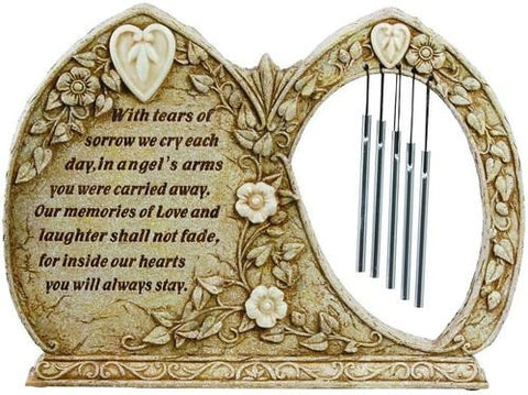 Carson Home Accents Peaceful Reflections Garden Chime 9.5-Inch High Memorial//Glow in The Garden