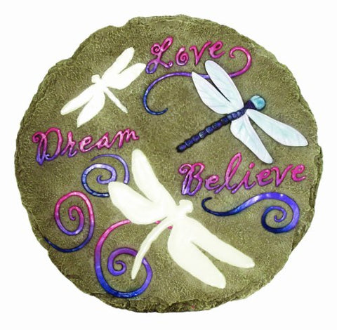 Spoontiques Dragonfly Glow Stepping Stone