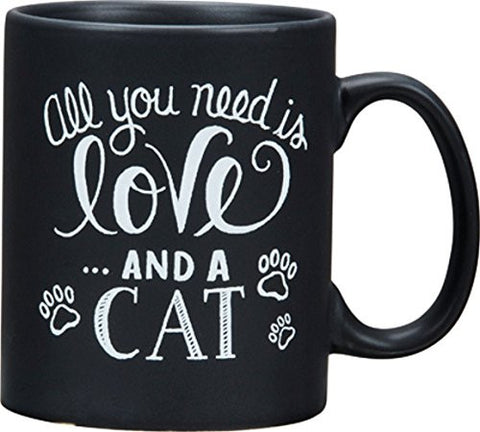 All You Need Is Love and a Cat Chalkboard Look Coffee Mug
