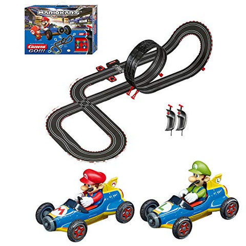 Carrera GO!!! 62492 Mario Kart Mach 8 Electric Slot Car Racing Track Set 1:43 Scale feat. Mario and Luigi