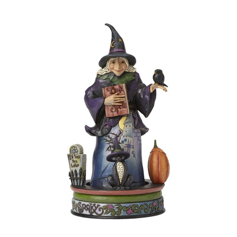 Enesco Jim Shore The Wicked Witch with Rotating Creepy Characters