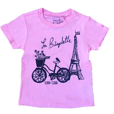 """La Bicyclette"" Baby/Toddler Tee - roman+gemma™  - 1"