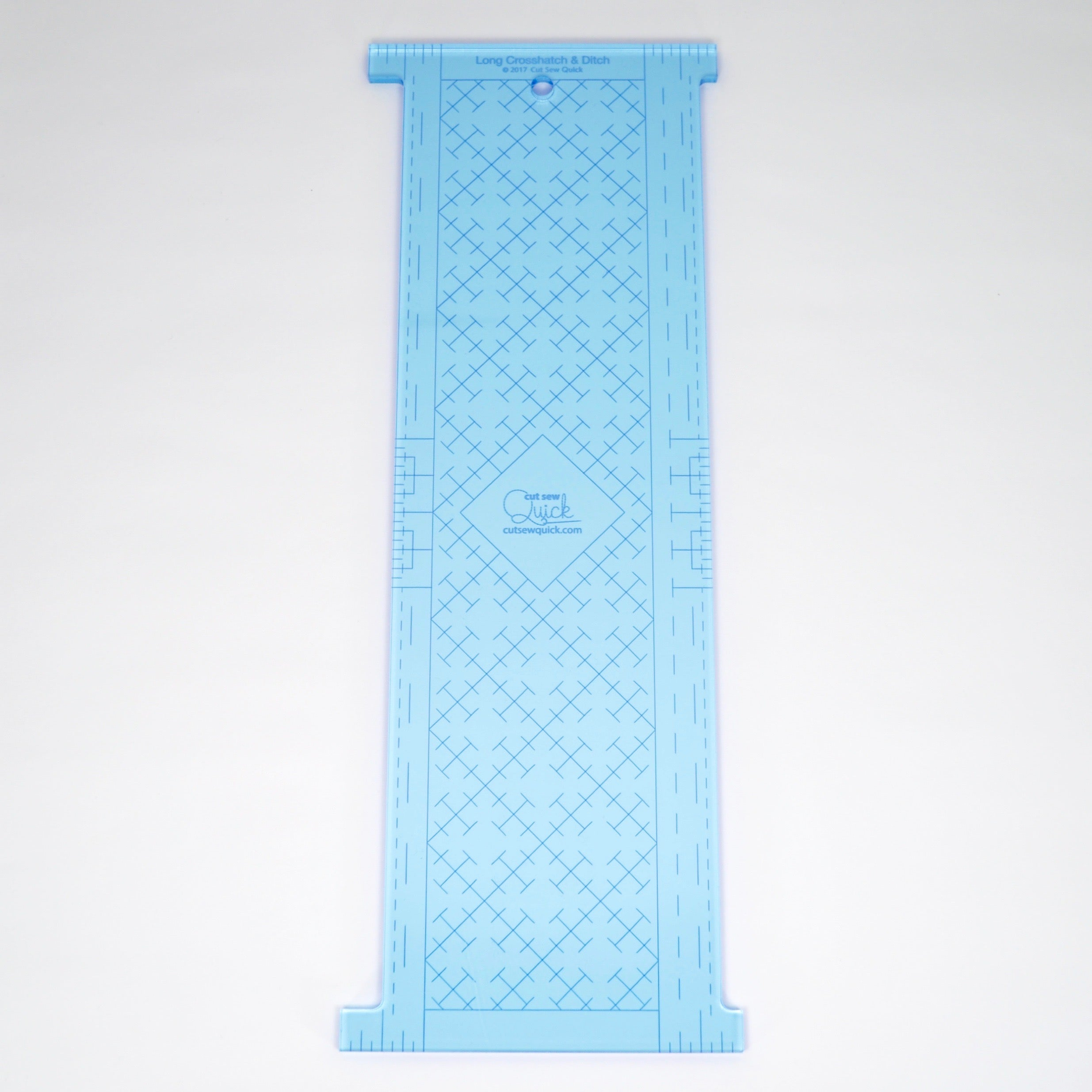 Long Crosshatch & Ditch Longarm Ruler