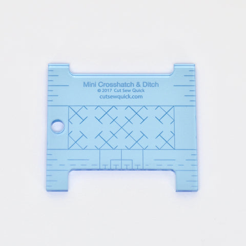Mini Crosshatch & Ditch Longarm Ruler