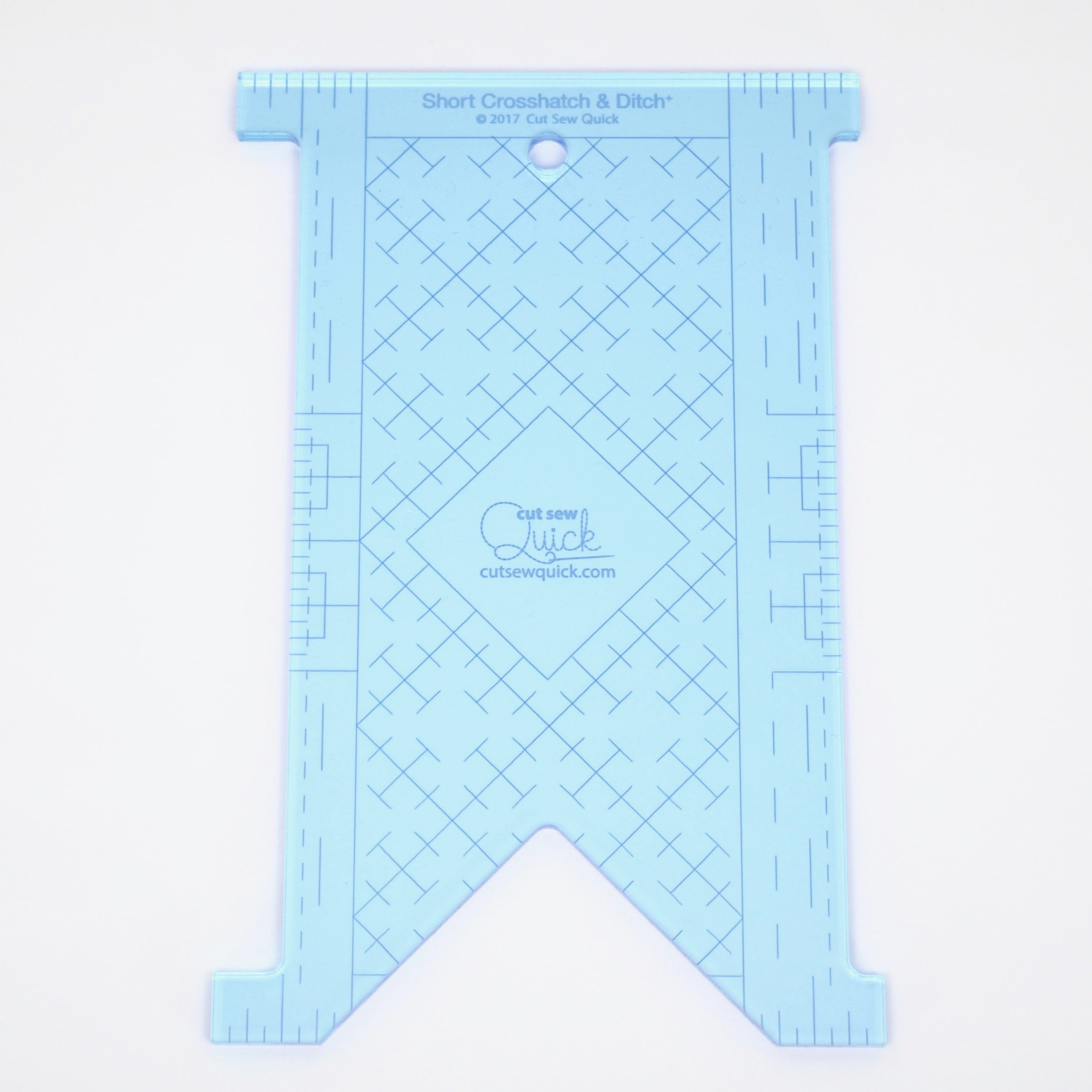 Short Crosshatch & Ditch⁺ Longarm Ruler
