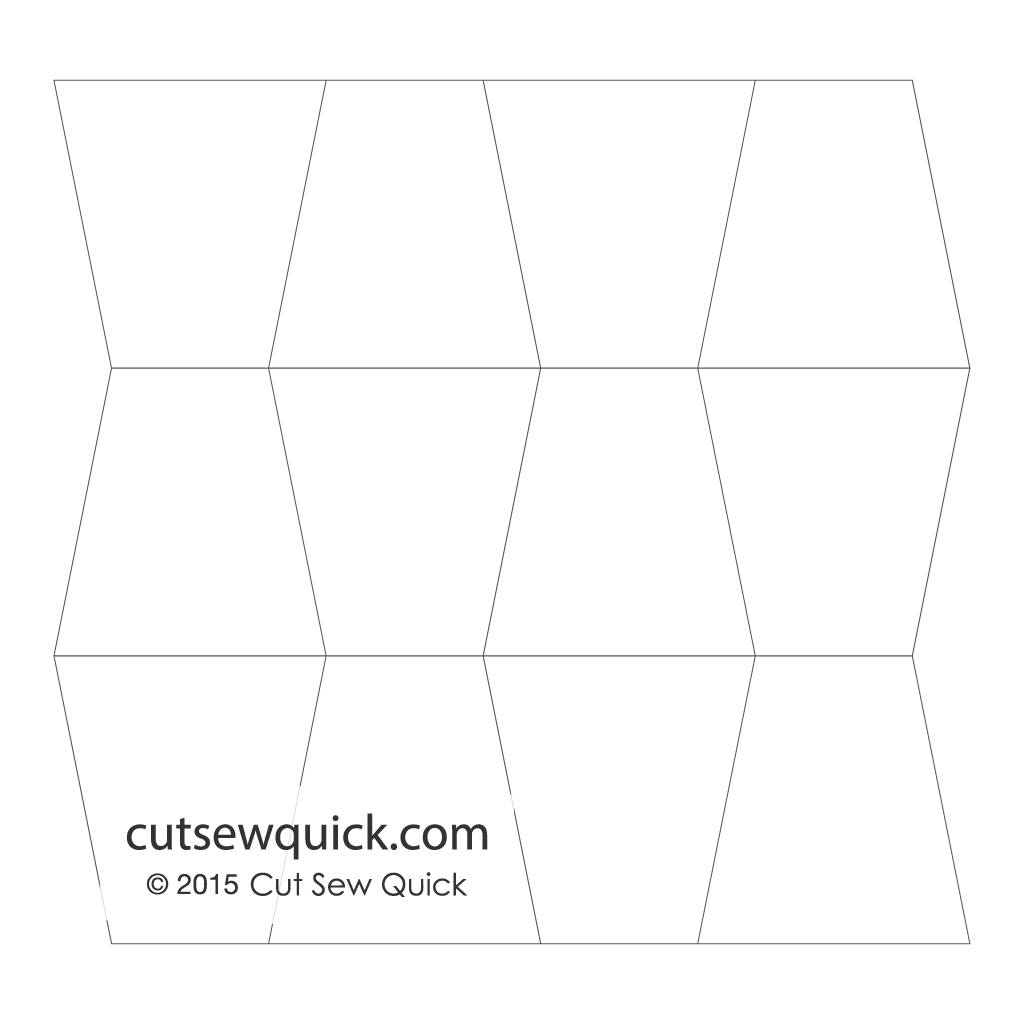 tumbler quilt template set cut sew quick