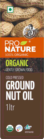 Pro Nature Organic Cold-Pressed Groundnut Oil 1 ltr