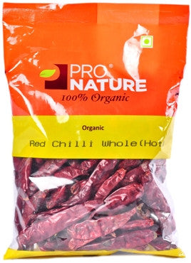 Pro Nature Organic Red Chilli Whole (Hot) 100g