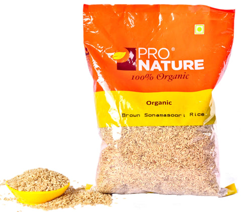 Pro Nature Organic Brown Sonamasoori Rice 1kg