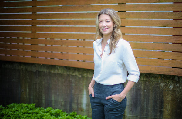 Andrea Seale - Acting CEO of the David Suzuki Foundation - in our hemp-silk-organic cotton Ana Shirt