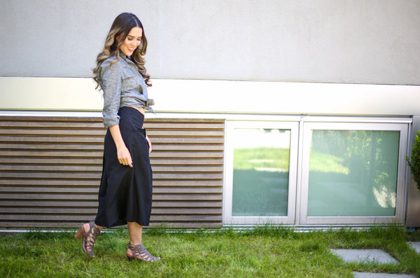 Tara Teng in our hemp & organic cotton Ana Shirt and Saskia Culottes