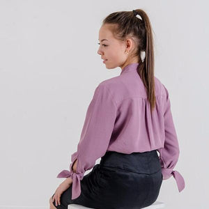 Margitta Tie-Sleeve Blouse (Dusty Pink)