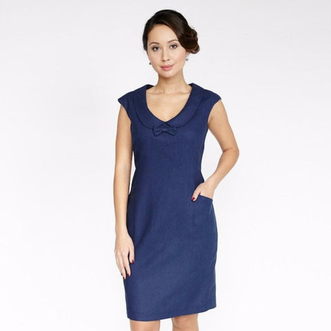 Whitney Dress (Navy)