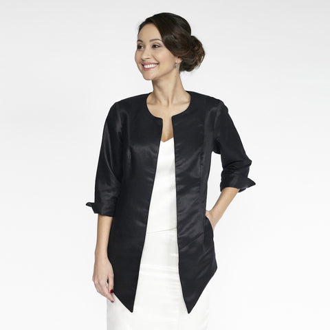 Emma Jacket (Black Silky)