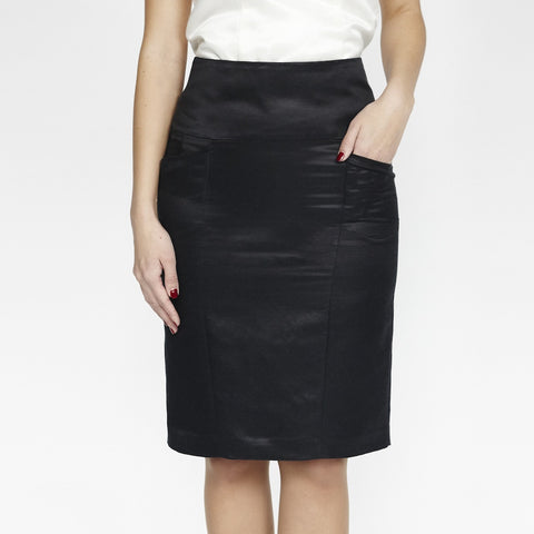 Stella Skirt (Black Silky)