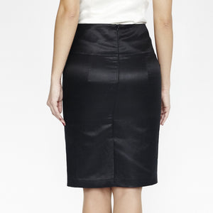Wallis Evera's Stella Pencil Skirt - Hemp Silk Cotton (Back View)