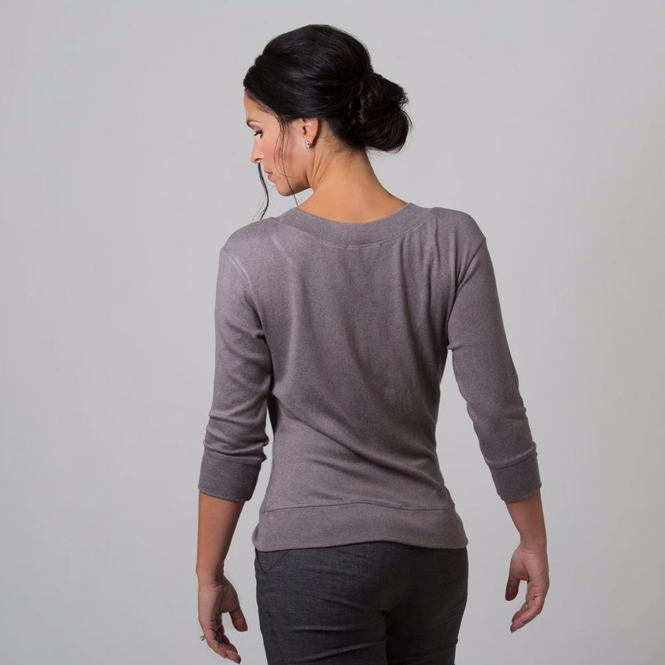Wanda Scoop Neck Sweater (Mink Grey)