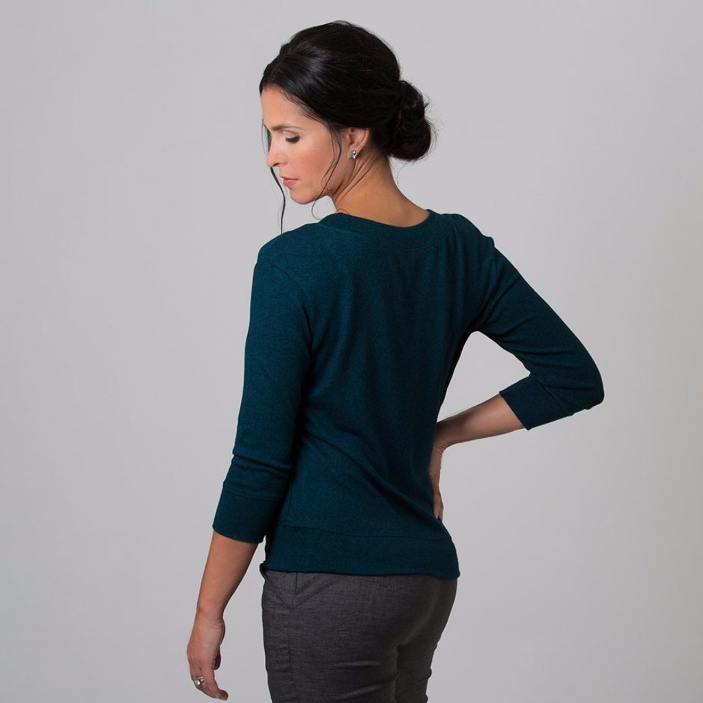 Wanda Scoop Neck Sweater (Evergreen)
