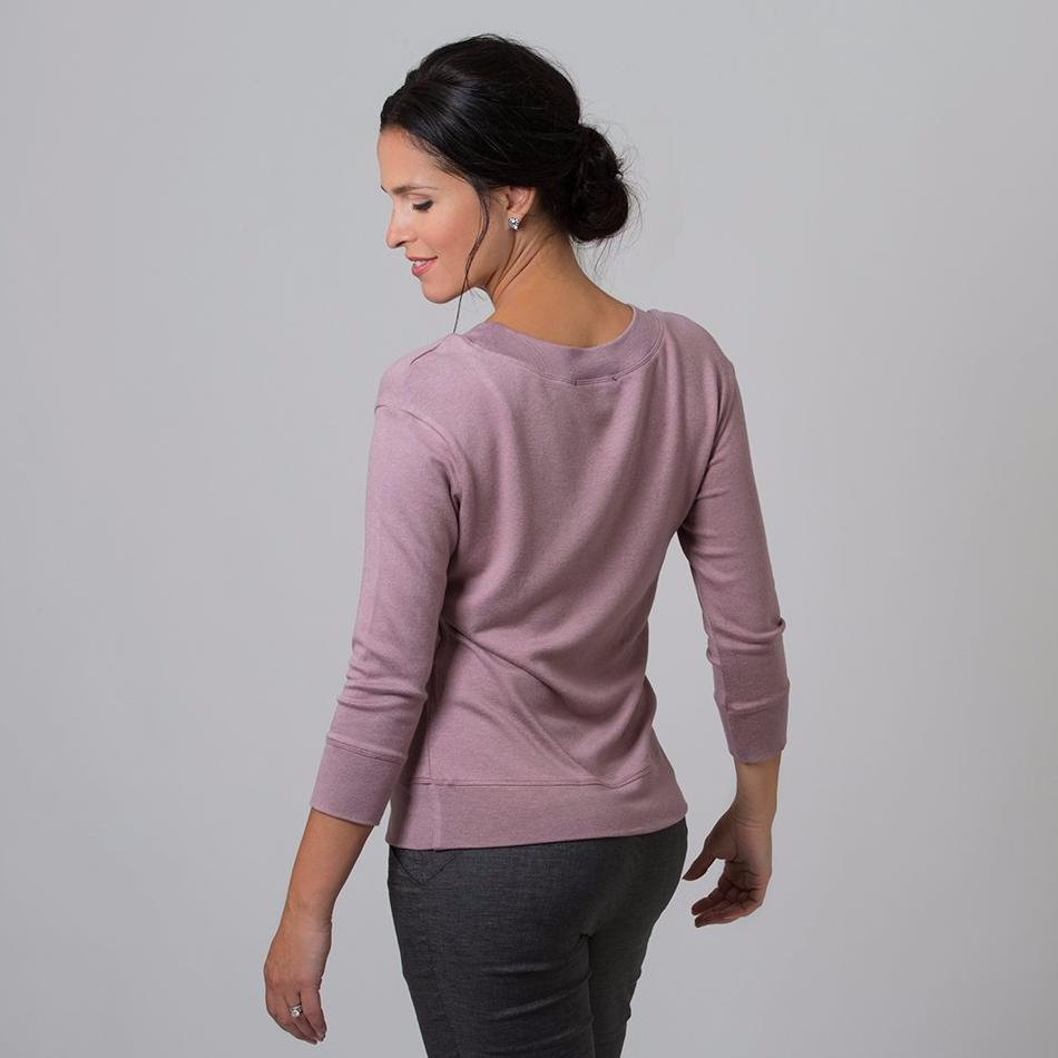 Wanda Scoop Neck Sweater (Dusty Pink)