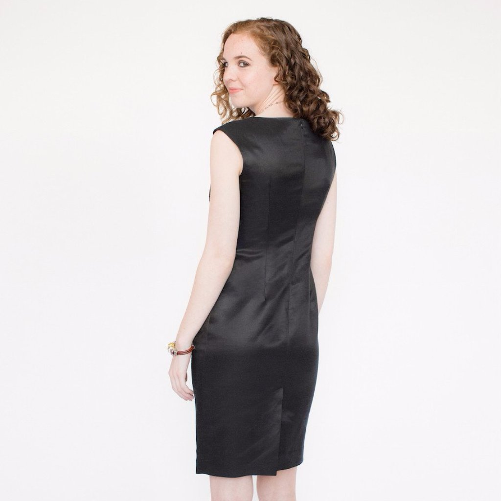 Claire Dress (Black Silky)