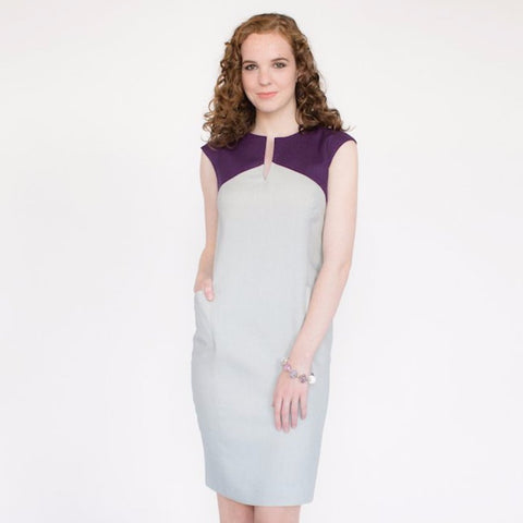 Lila Dress (Smoke/Plum)