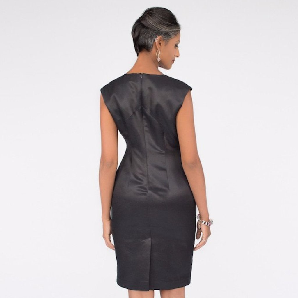 Lila II Dress (Black Silky)