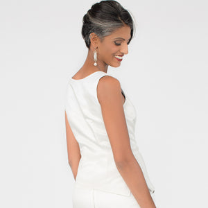 Wallis Evera's Cassidy Tank Top - Hemp Silk Cotton (Back View)