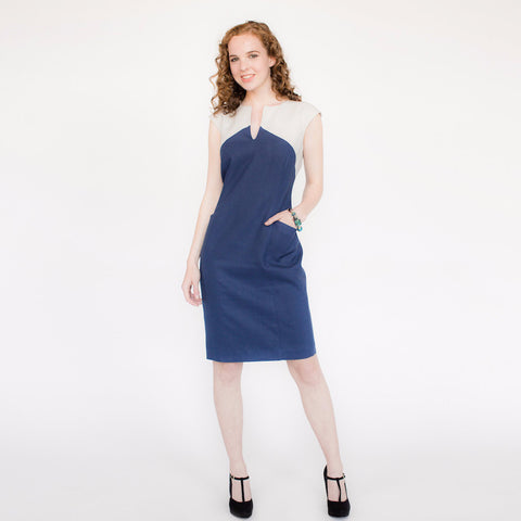 Lila Dress (Navy/Smoke)