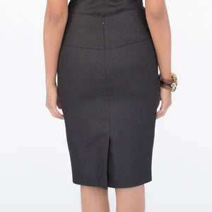 Wallis Evera's Stella Pencil Skirt - Hemp Lyocell (Back View)