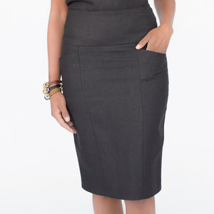 Wallis Evera's Stella Pencil Skirt - Hemp Lyocell (Front View)