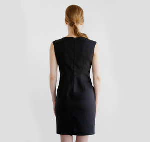 Wallis Evera's Claire Dress - Hemp Lyocell (Front View)