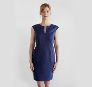 Wallis Evera's Lila Dress - Hemp Lyocell (Front View)
