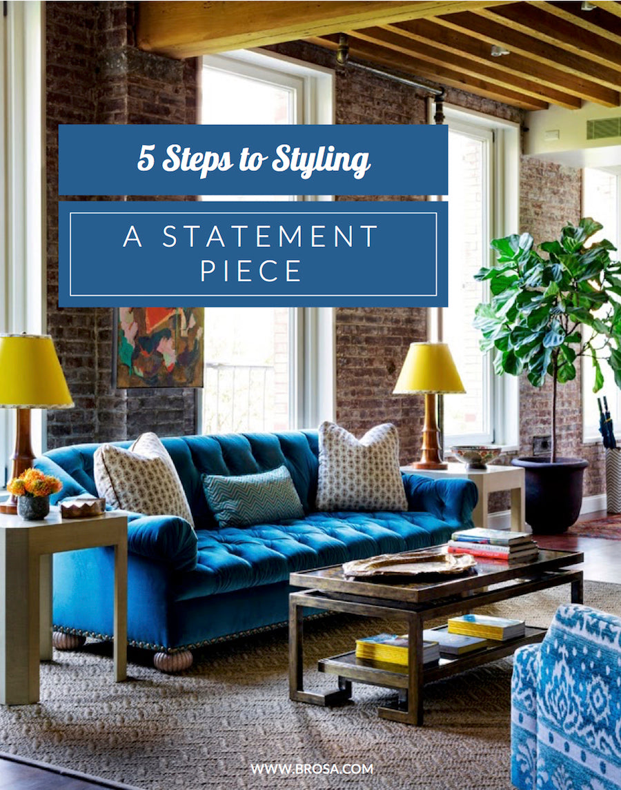 five steps to styling a statement piece