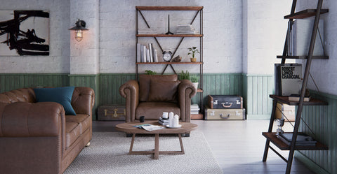 Leather Armchair and 3 seater