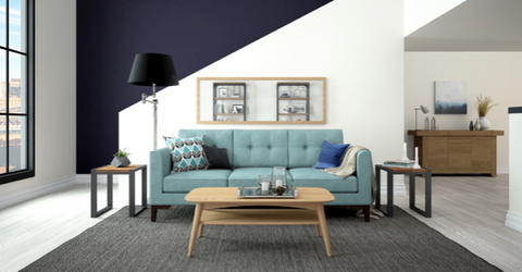 Superieur Cushions For A Blue Sofa