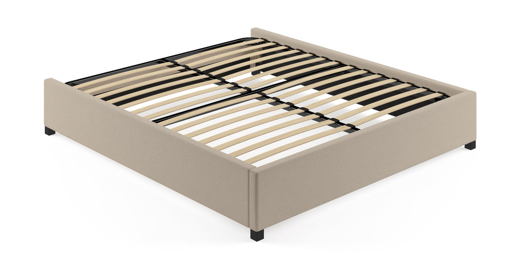 Queen Size Upholstered Bed Frame Base with Storage Drawers
