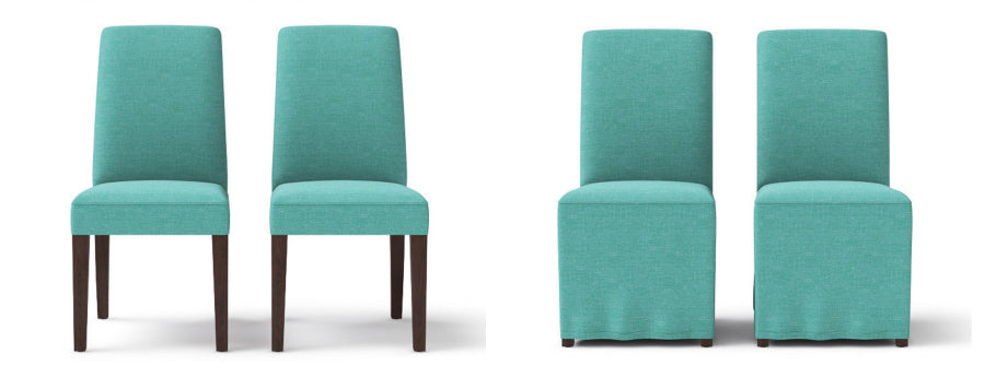 Brosa's Grace dining chair in petal turquoise