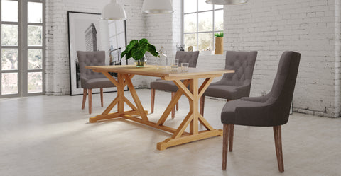 chablis table and 4x espen chair dining set