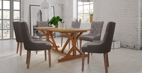 chablis table & 6x espen chairs