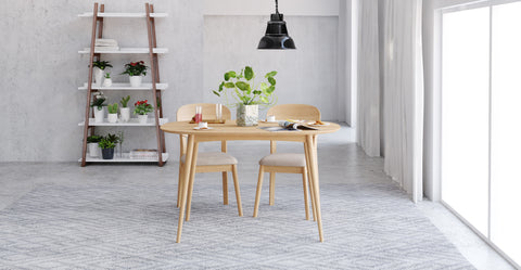 Mia Dining set 130cm table 2 chairs