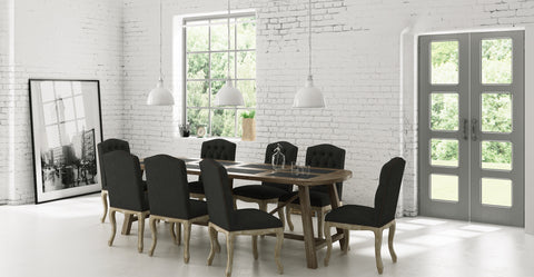 warner dining set 8 marie chairs