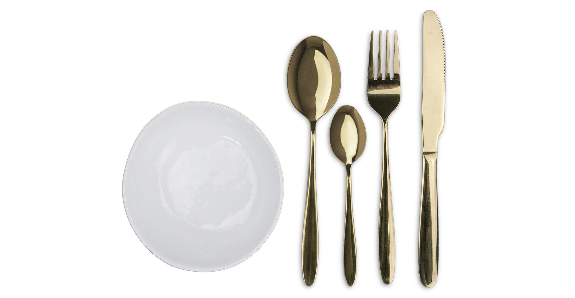The Golden Cutlery 4 Piece Cutlery Set