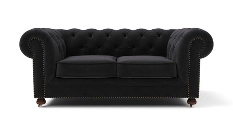 Notting Hill Velvet Chesterfield 3 Seater & Armchair