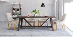 Chelsea Table & 4x Zoe Scoop Chairs Dining Set
