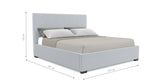 Gisele Gas Lift King Size Bed Frame