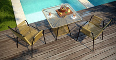 Lanzarote 3 Piece Outdoor Setting - 2x Dining Chair with Dining Table
