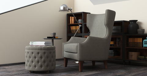 Alec Wing Back Armchair