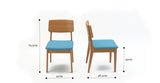 Mokuzai [木] 2 x Dining Chair