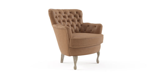 Alessia Leather Accent Chair